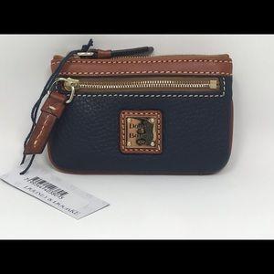 Dooney Bourke Coin Purse Key Wallet Midnight Blue